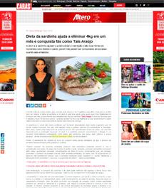 A nutricionista Patrícia Davidson Haiat explica a dieta da sardinha no site da revista Caras