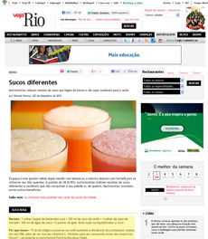 No site da revista Veja Rio, a nutricionista Patrícia Davidson Haiat dá a receita do suco rosa