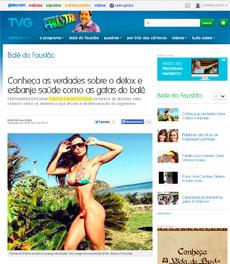 A nutricionista Patrícia Davidson Haiat fala sobre detox no site da TV Globo