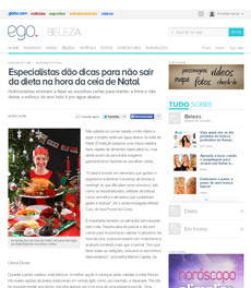 No site EGO, a nutricionista Patrícia Davidson Haiat dá dicas de como não sair da dieta na ceia de Natal