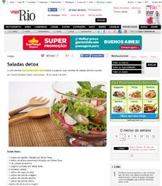 No site da Veja Rio, a nutricionista Patrícia Davidson Haiat dá receitas de saladas detox