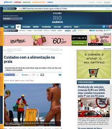No site do jornal O Globo, a nutricionista Patrícia Davidson Haiat é fonte em matéria sobre os cuidados com a alimentação na praia