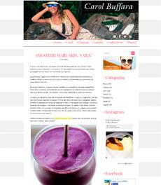 No site Carol Buffara, a nutricionista Patrícia Davidson Haiat dá receita de smoothie