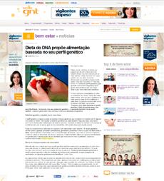 A nutricionista Patrícia Davidson Haiat é fonte em matéria sobre a dieta do DNA, no site GNT