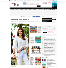 O estilo da nutricionista Patrícia Davidson Haiat também é destaque no site da revista Veja Rio