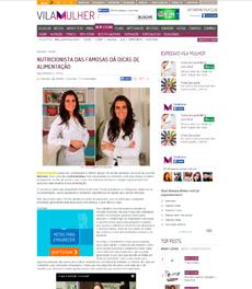 O site Vila Mulher publicou um perfil da nutricionista Patrícia Davidson Haiat