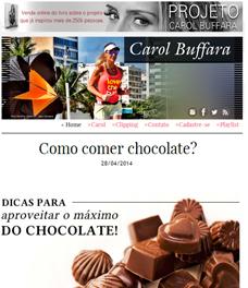 No site Carol Buffara, a nutricionista Patrícia Davidson Haiat dá dicas para aproveitar o máximo do chocolate