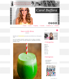 A nutricionista Patrícia Davidson Haiat dá a receita de suco verde detox, no site Carol Buffara