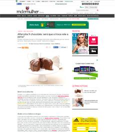 No site M de Mulher, a nutricionista Patrícia Davidson Haiat fala sobre a diferença entre chocolate e alfarroba