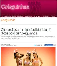 No site G Show, a nutricionista Patrícia Davidson Haiat dá dicas para comer chocolate sem culpa