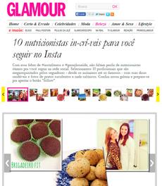 Na Glamour online, a nutricionista Patrícia Davidson Haiat foi destaque em matéria sobre nutricionistas para seguir no Instagram