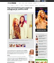 No site Puretrend, a nutricionista Patrícia Davidson Haiat foi destaque em matéria sobre nutricionistas top no Instagram