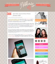 O lançamento do aplicativo da Clínica Patrícia Davidson Haiat é destaque no blog Futilidades