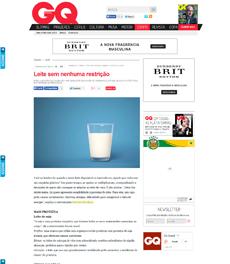 No site da revista GQ, a nutricionista Patrícia Davidson Haiat é fonte em matéria sobre tipos de leite