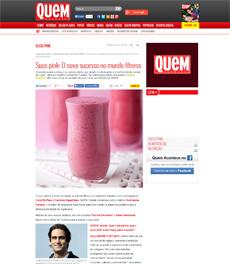 A nutricionista Patrícia Davidson Haiat dá receitas de suco pink, na Quem Online