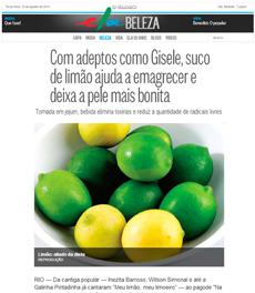 A nutricionista Patrícia Davidson Haiat fala sobre os benefícios do suco de limão, no Caderno Ela Online