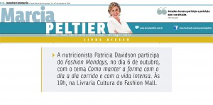 Patricia Davidson participa do Fashion Mondays