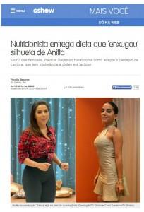Nutricionista entrega dieta que 'enxugou' silhueta de Anitta.