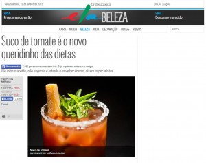 Suco de tomate é o novo queridinho das dietas