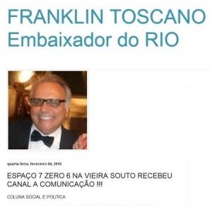 Franklin Toscano Embaixador do Rio