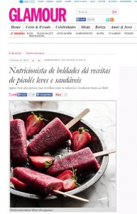 Nutricionista de beldades dá receitas de picolés leves e saudáveis.