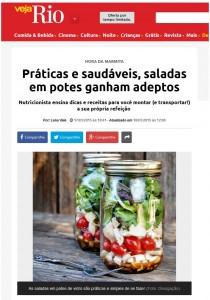 Práticas e saudáveis, saladas em potes ganham adeptos